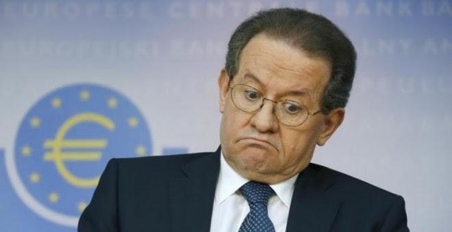 El vicepresidente del BCE, el portugués Vitor Constancio, durante una de las ruedas de prensa en la sede mensual del organismo en Fráncfort. REUTERS/Ralph Orlowski