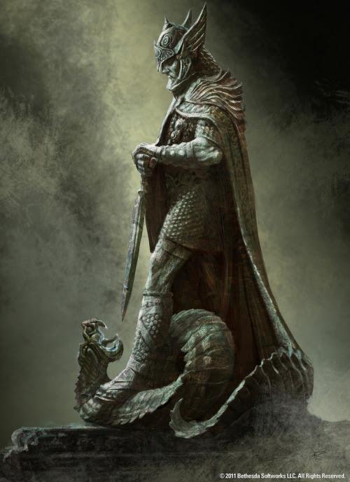 Elder Scrolls V: Skyrim. 'Popular statue that will be seen around Skyrim'