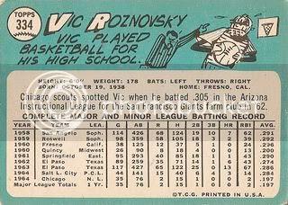 #334 Vic Roznovsky (back)