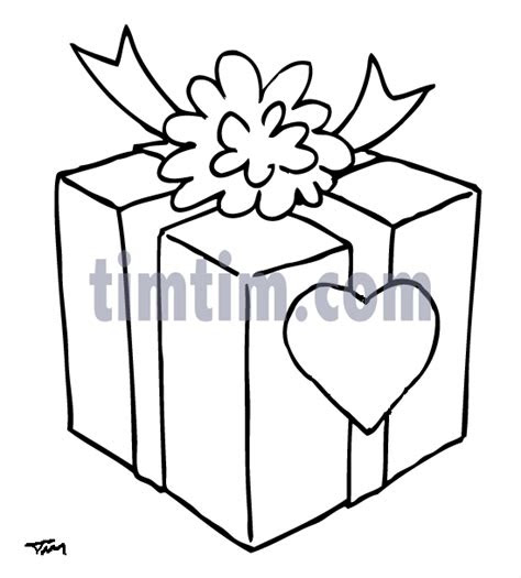 drawing  christmas gift bw   category