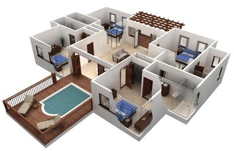 awesome   bedroom house plans  designs  home