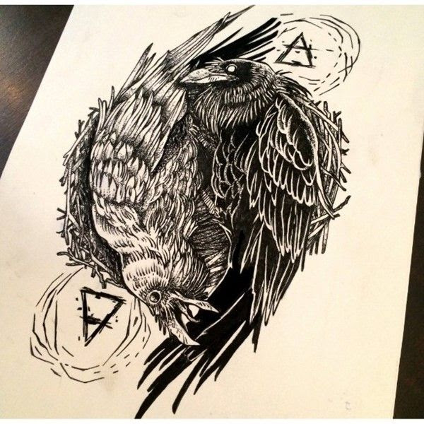 Raven Tattoo Drawing At Getdrawingscom Free For Personal Use