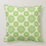 Spring Green Floral Pattern Pillow