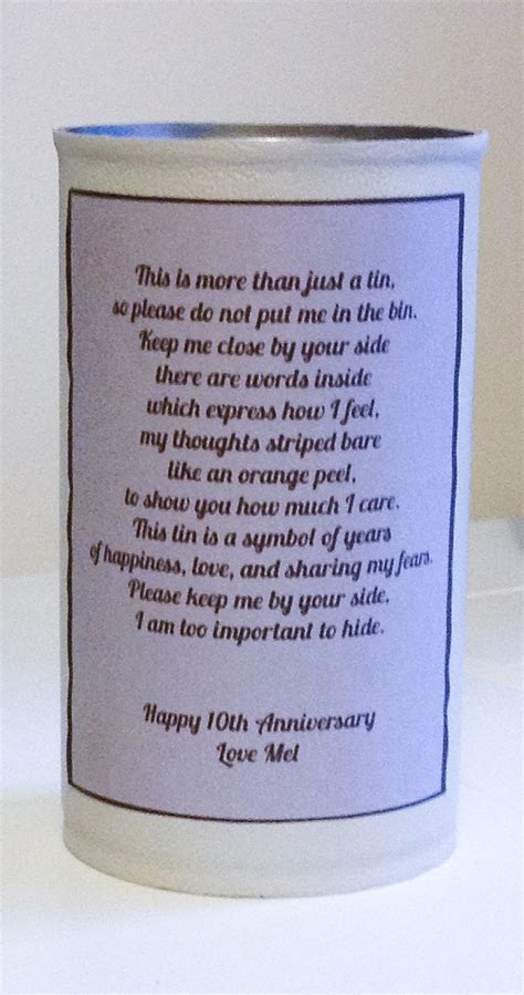 Thoughtful DIY Gift Ideas for Your Tin Anniversary