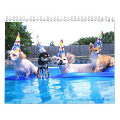 Dogs Living As Humans Funny Calendar