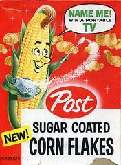 Post Sugar Coated Corn Flakes box