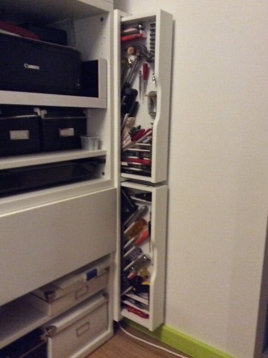 Slim tool cabinets