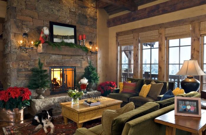 lodge christmas mantel decor