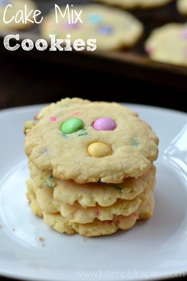 Cake Mix Cookies by To Simply Inspire