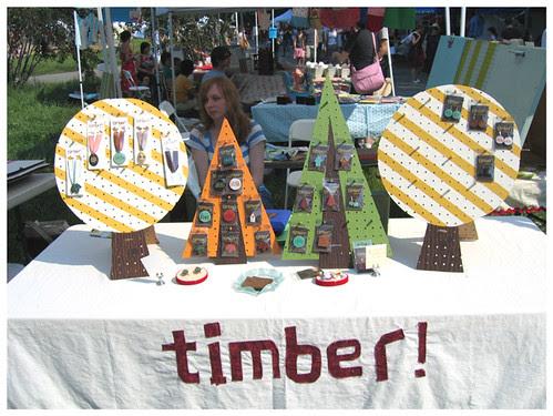 Renegade craft fair -timber display