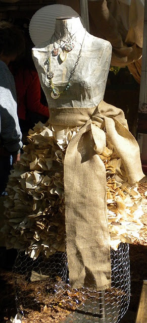 paper stuffed in chicken wire