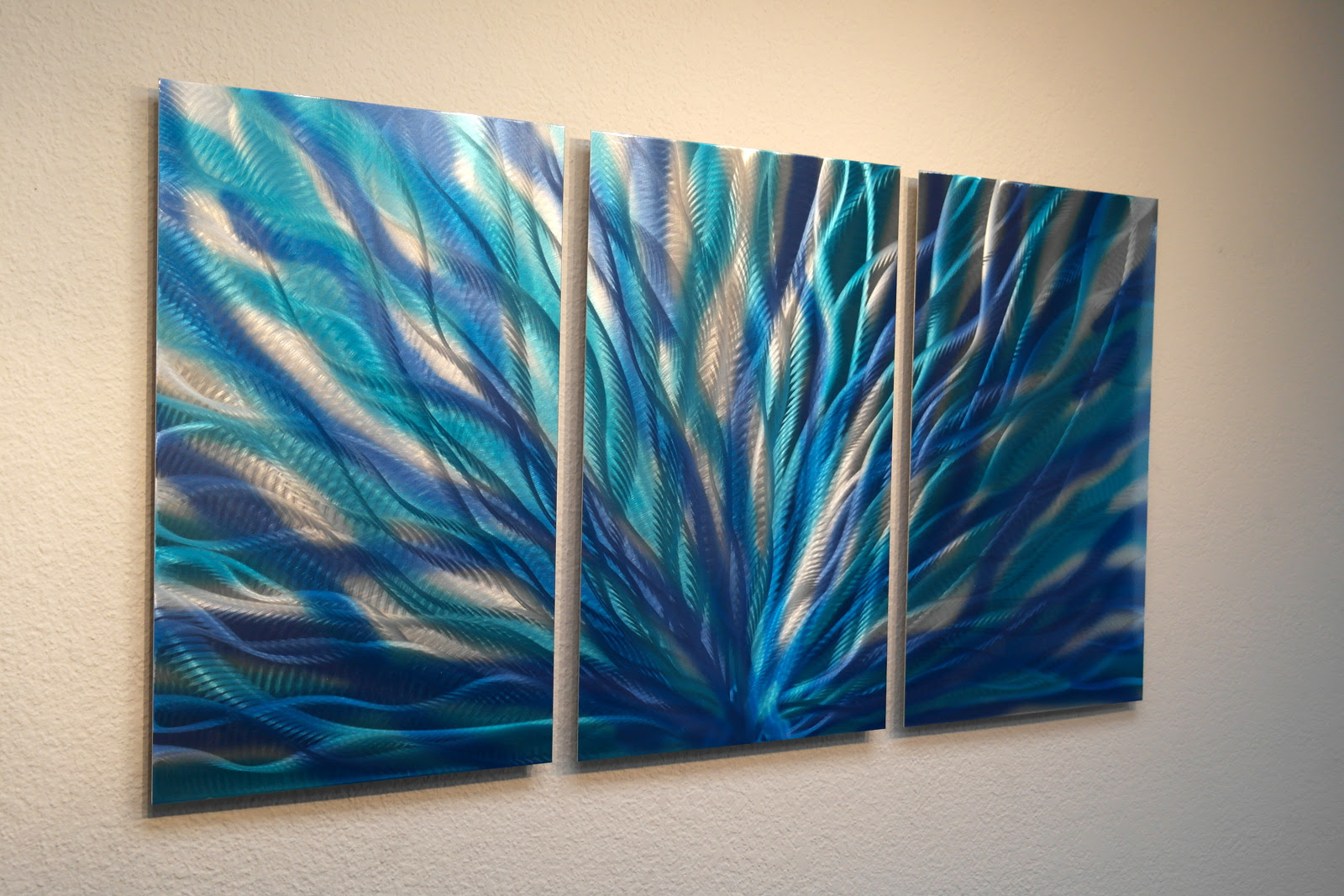 Radiance Blue- Metal Wall Art Abstract Contemporary Modern ...