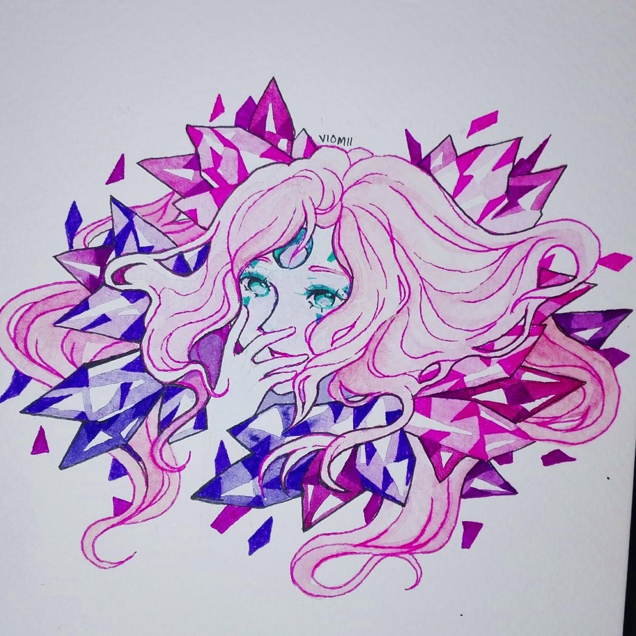 Simple long hair Pearl doodle :3