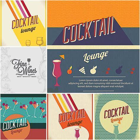 Lounge cocktail bar menu set of vectors   Free download