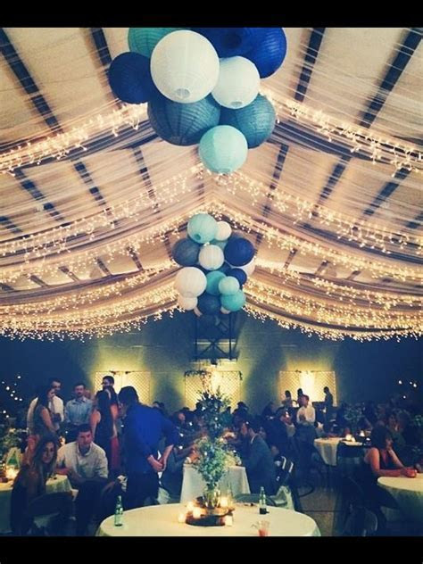 Wedding reception, tulle and lights in our church gym. It