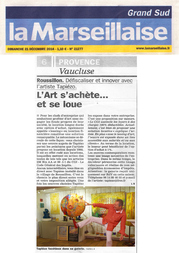 tapiezo-roussillon.com/photos/journal%20la%20marseillaise_newspaper%20leasing%20art_la%20marseillaise%20art_defiscalisation%20leasing_article%20presse%20leasing_newspaper%20provence_journal%20provence_peinture%20sculpture_galerie%20provence_leasing%20art_tapiezo_12-20