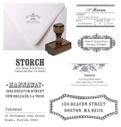 Custom Rubber Stamps for Wedding Invitation Address Labels