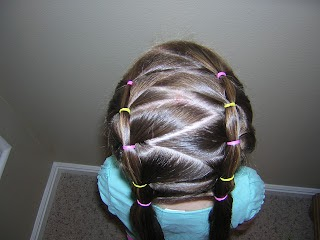 Elastic Braids With A Zig Zag Part Hairstyles For Girls