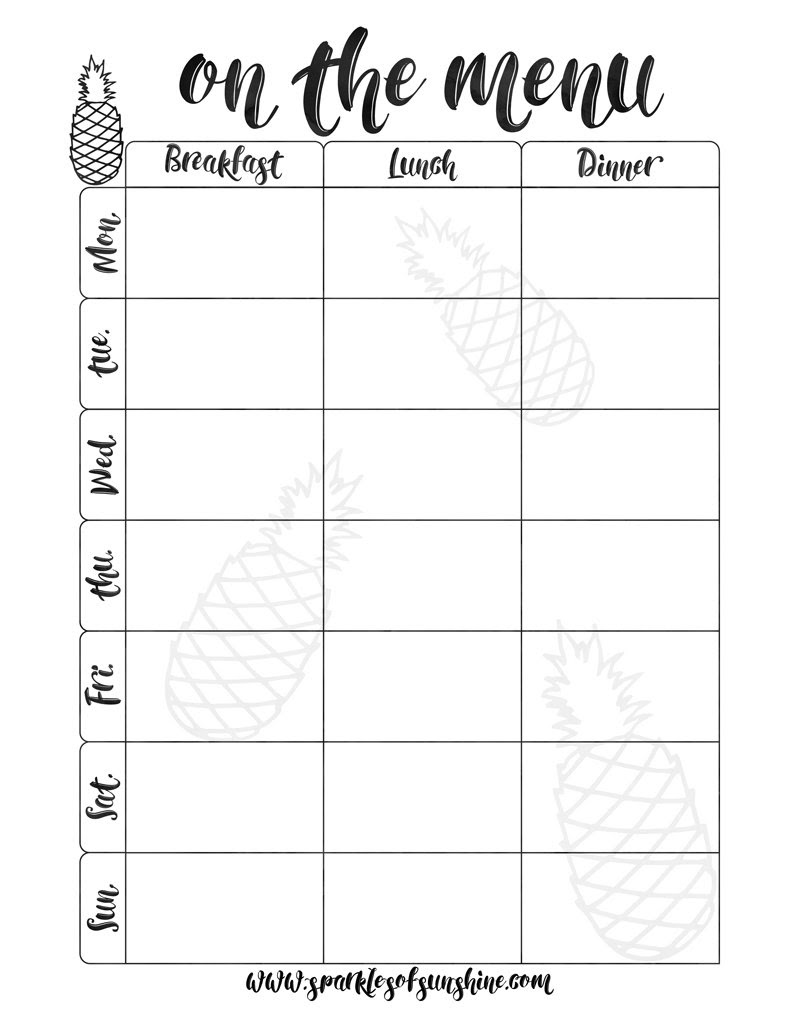 on the menu meal planner