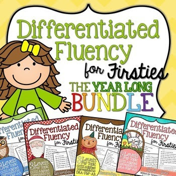 Differentiated Fluency for Firsties BUNDLE {August - June}