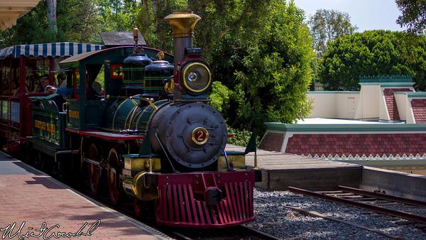 Disneyland Resort, Disneyland, Main Street U.S.A., Disneyland Railroad, Lilly Belle