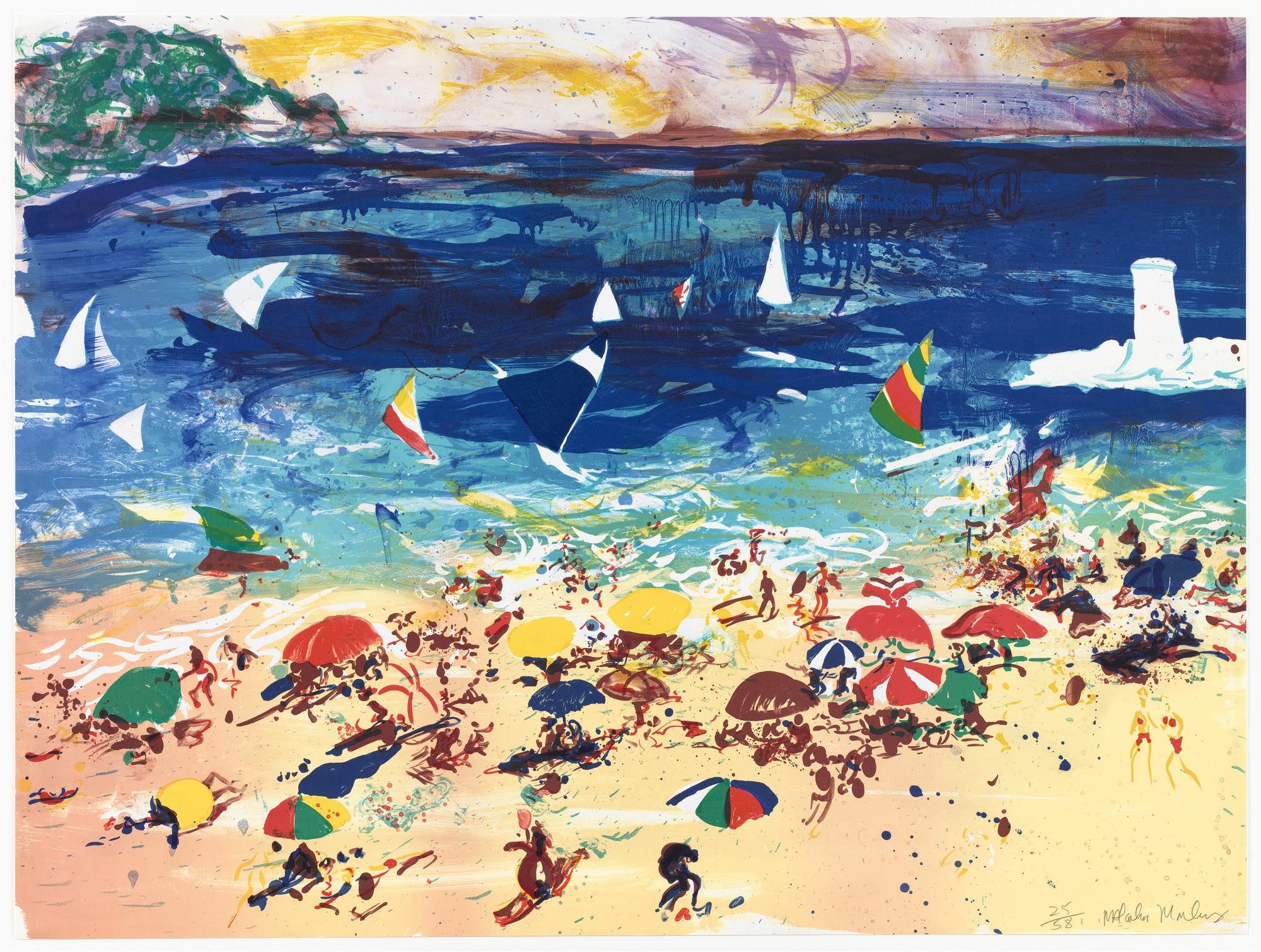 Malcolm Morley Beach Scene 1982 Moma
