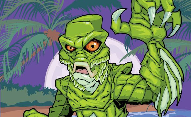 Cartoon Creature From The Black Lagoon Drawing