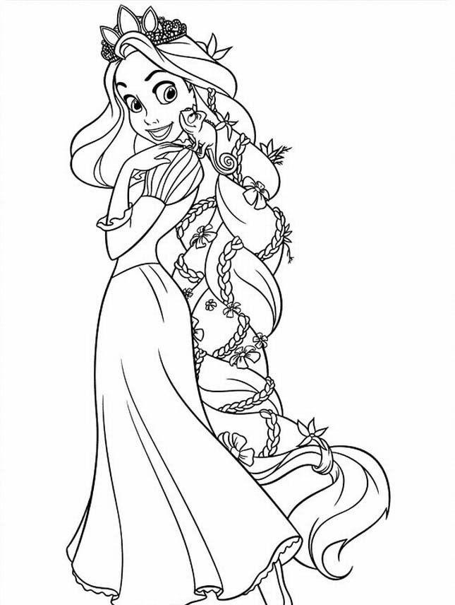 Princess Rapunzel Coloring Pages Coloring Home