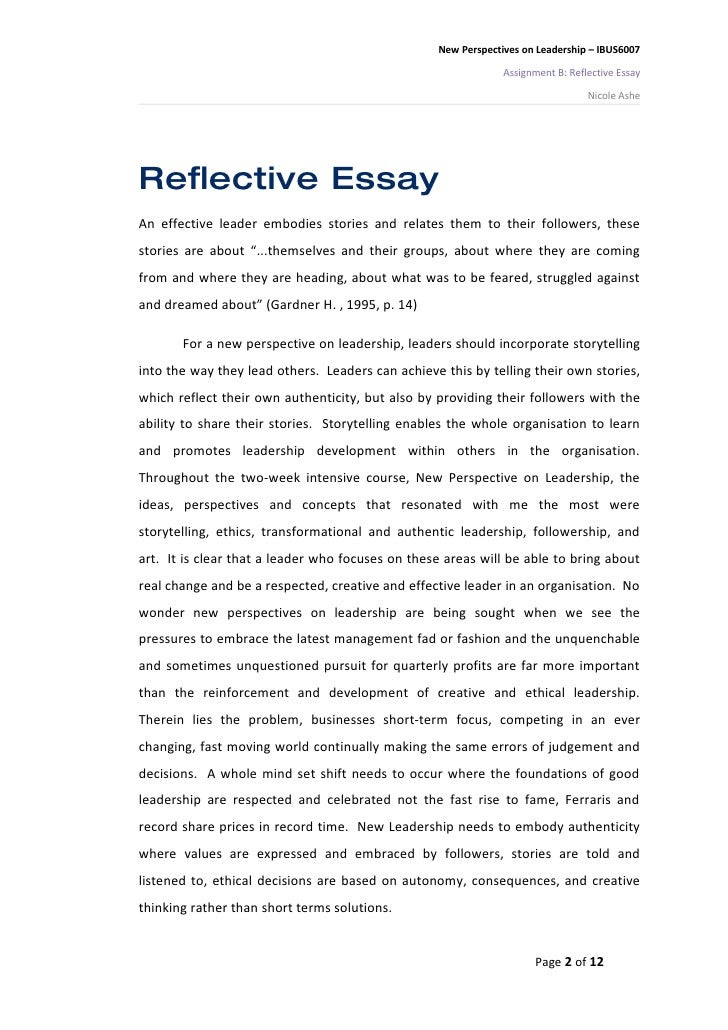 how to write a personal reflective essay