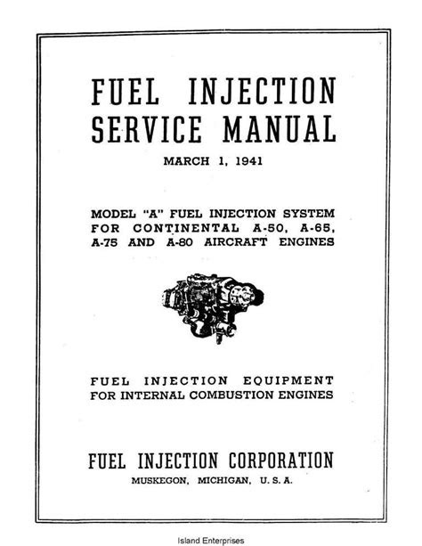 Continental Fuel Injection Service Manual A50, 65, 75 & 80