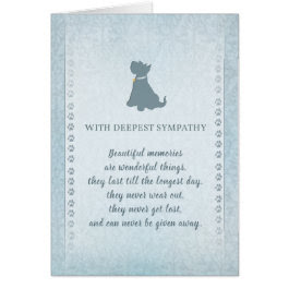 Scottish Terrier Dog Sympathy Beautiful Memories