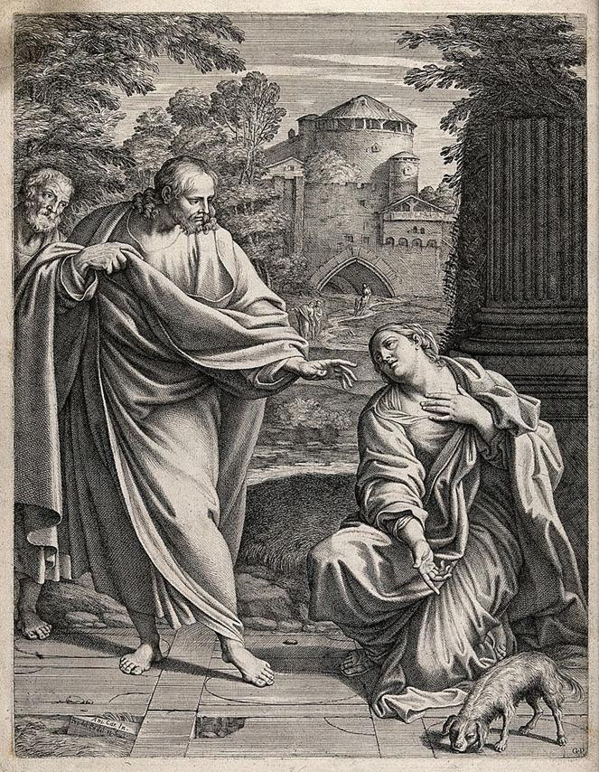 https://upload.wikimedia.org/wikipedia/commons/thumb/4/4e/The_Canaanite_%28or_Syrophoenician%29_woman_asks_Christ_to_cure_Wellcome_V0034860.jpg/795px-The_Canaanite_%28or_Syrophoenician%29_woman_asks_Christ_to_cure_Wellcome_V0034860.jpg