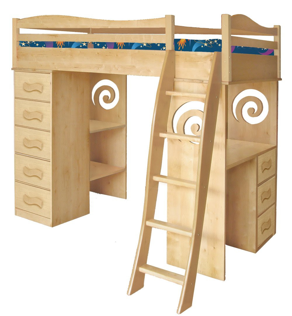 Woodworking Building Bunk Bed With Desk Drawers And Trundle