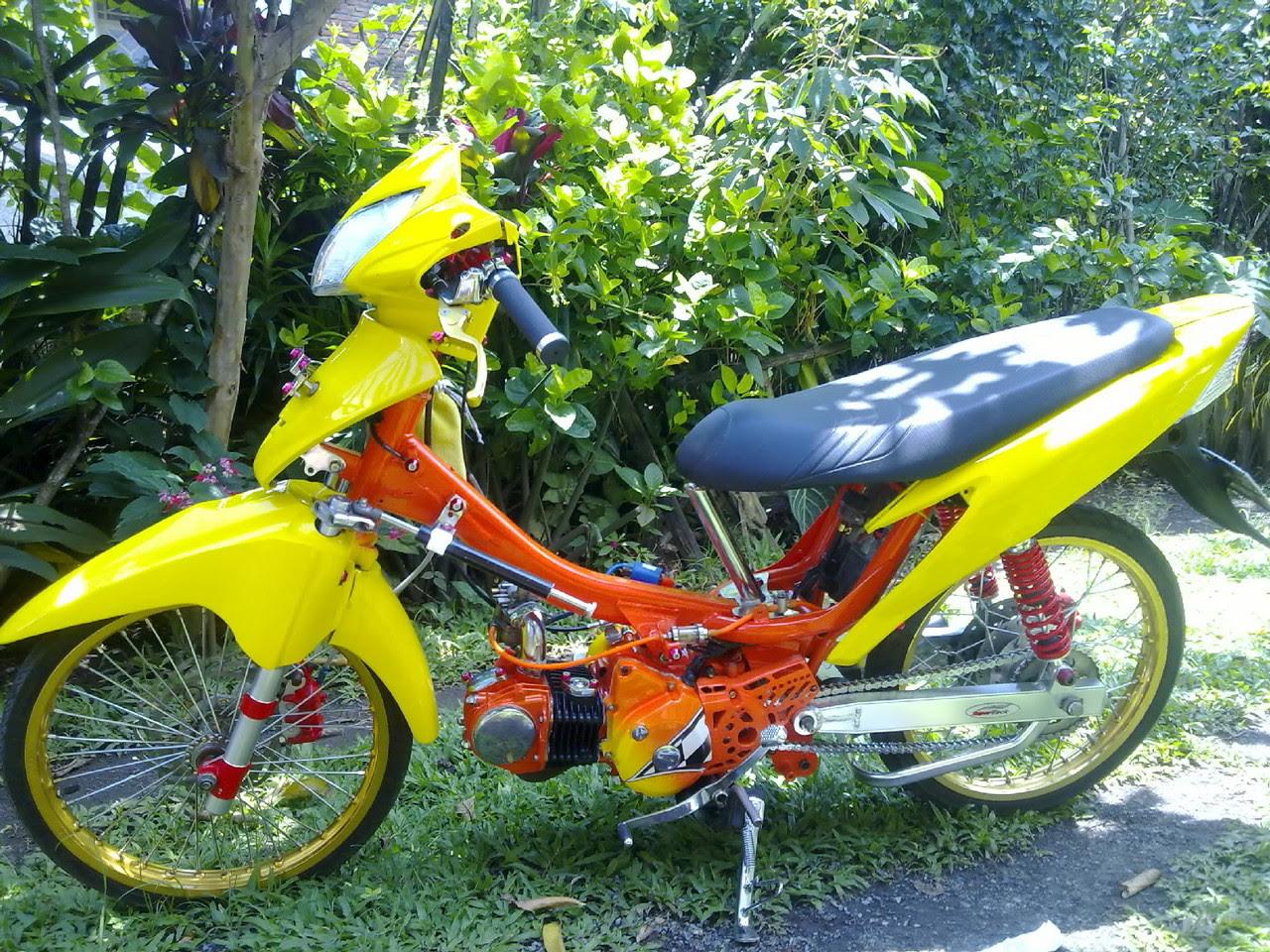 Koleksi Ide Modifikasi Motor Supra X 125 Warna Kuning Terbaru Dan