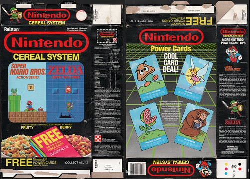 Ralston - Nintendo Cereal System box - Fruity and Berry - 1988