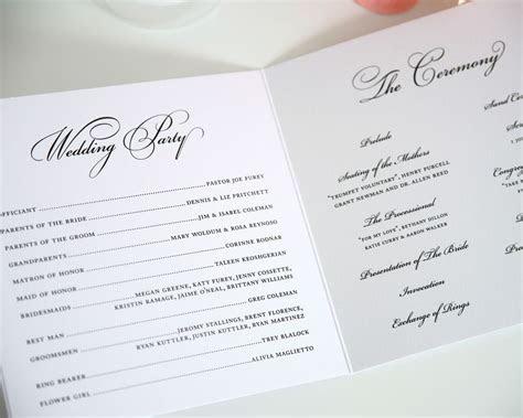 Circle Monogram Wedding Programs   Wedding ceremony