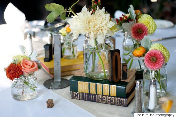 book centerpiece wedding