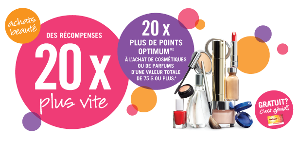 20x plus de points Shoppers Optimum