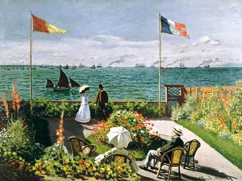 Claude Monet - La Terraza en el Borde del Mar en Sainte Adresse