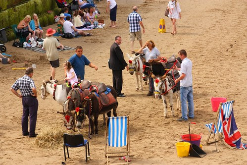 Pony rides on the beach at Whitby