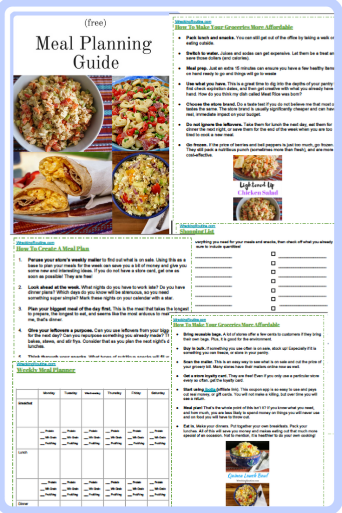 Meal Planning Guide Free Wrecking Routine
