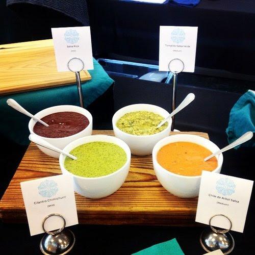 Some of Culinaria's homemade salsas. (photo courtesy of Culinaria)
