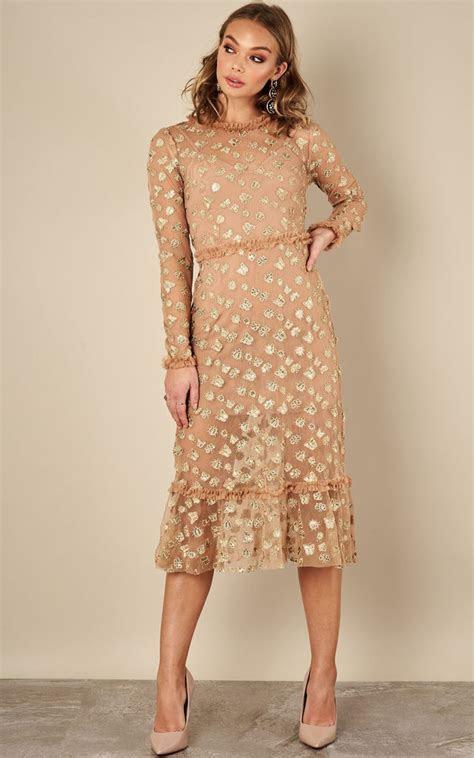 Golden Garden Tulle Midi Dress For Love And Lemons   For