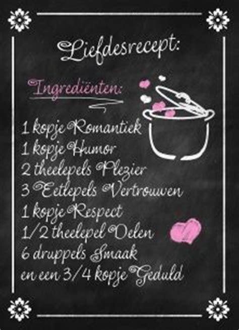 Lifestyle Quotes kaart   schoolbord met liefdes recept