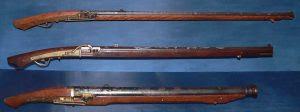 Rifles matchlock Tanegashima.