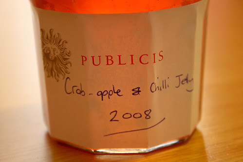Crab apple and chilli jelly 2008