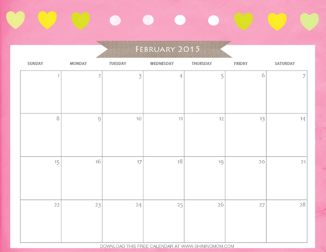 1000+ images about Printable Calendar February 2015 on Pinterest