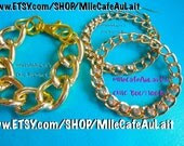 Diamond Rhinestone Dangle Chain Link Hoop Earrings-  CHAIN REACTION Earrings (Gold)