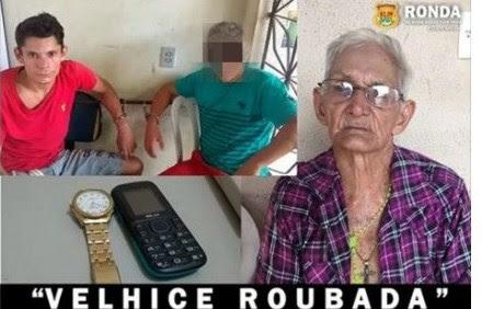 Neto (blusa vermelha) foi preso após assalto na casa do próprio avô(Foto: facebook)