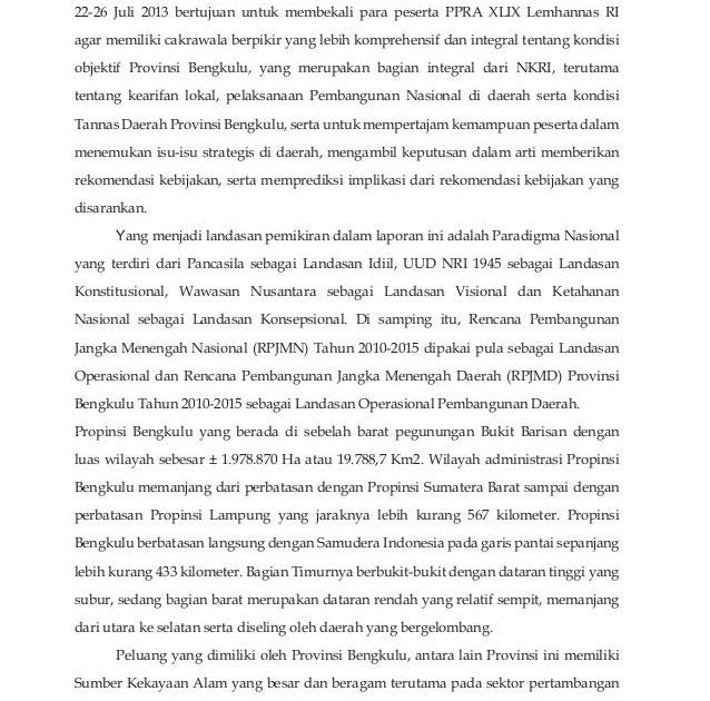 Contoh Executive Summary Laporan Rasmi B